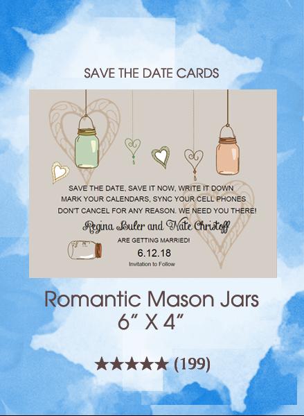 Save the Dates - Romantic Mason Jars