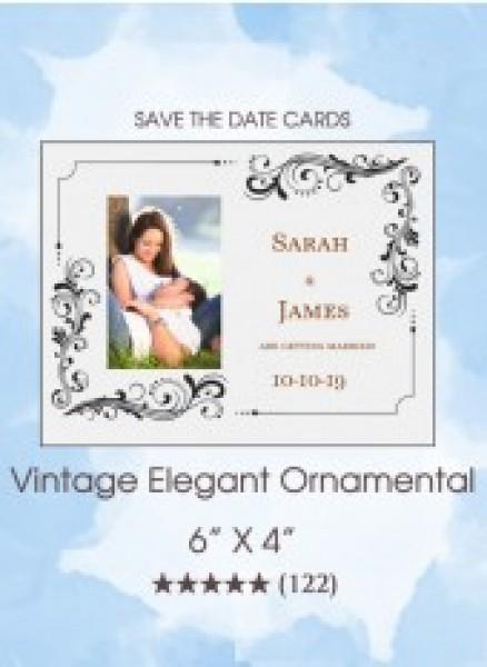 Vintage Elegant Ornamental Cards