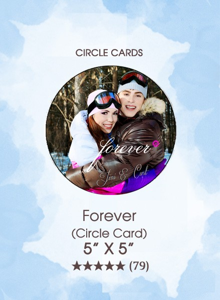Save the Dates - Forever (Circle Card)