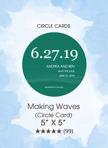 Save the Dates - Making Waves (Circle Card)