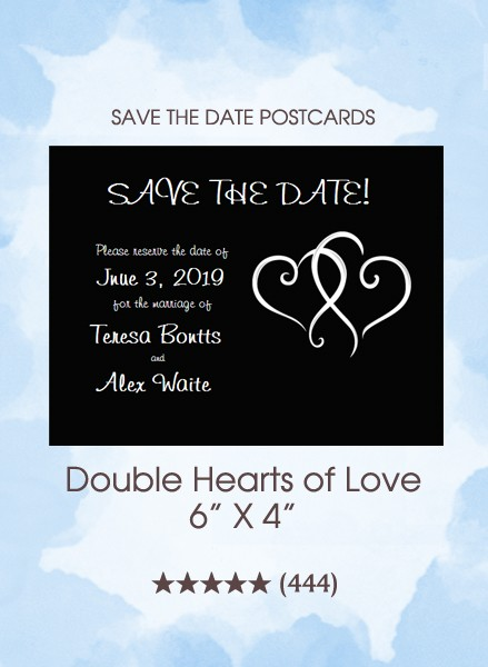 Double Hearts of Love Postcards