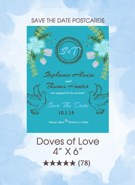 Save the Dates - Doves of Love