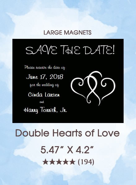 Double Hearts of Love Large Magnet