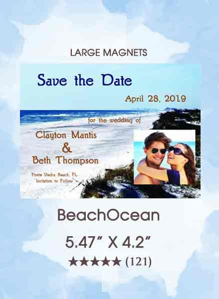 BeachOcean Save the Date Magnets