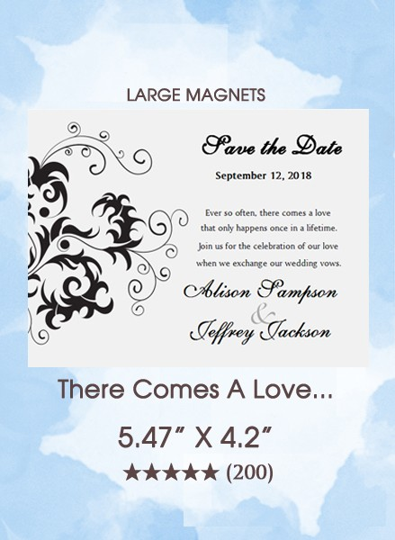 There Comes A Love...Save the Date Magnets