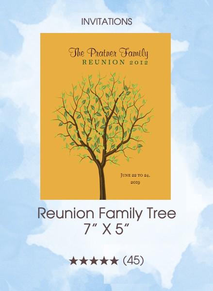 Invitations - Reunion Family Tree