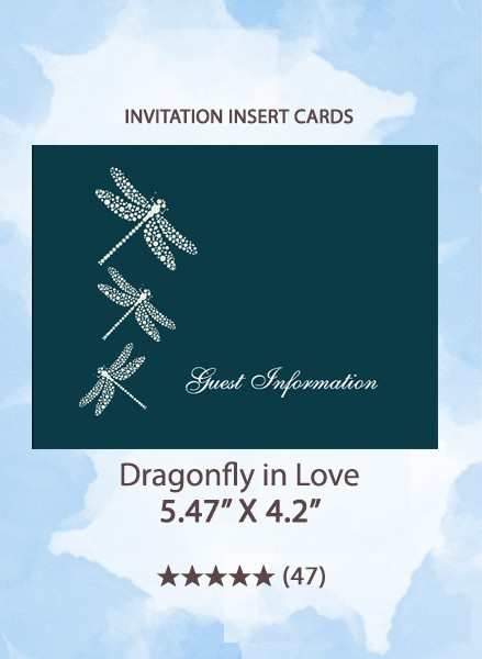 Dragonfly in Love Invitation Insert Cards