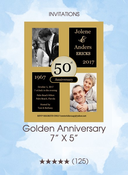 Invitations - Golden Anniversary