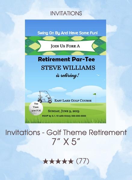 Invitations - Golf Theme Retirement
