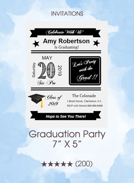 Invitations - Graduation Party