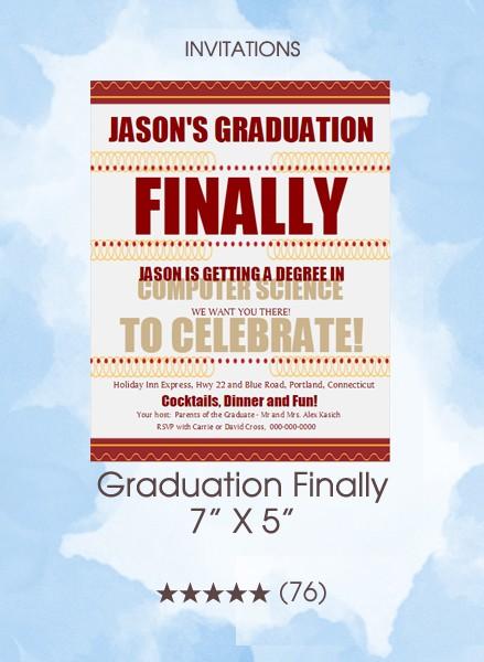 Invitations - Graduation Finally