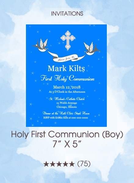 Invitations - Holy First Communion (Boy) (Default)