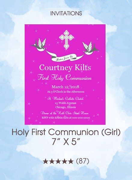 Invitations - Holy First Communion (Girl)