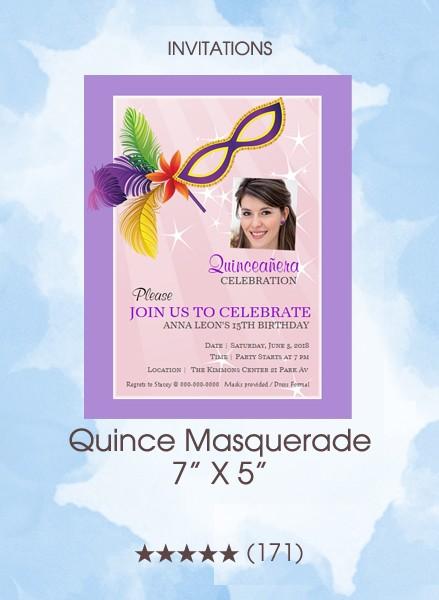 Invitations - Quince Masquerade
