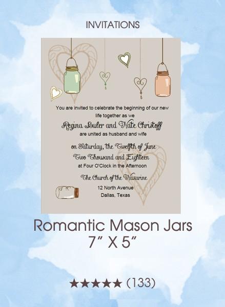 Invitations - Romantic Mason Jars