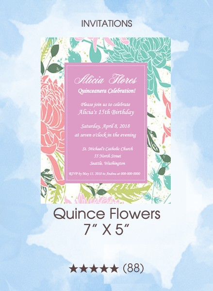 Invitations - Quince Flowers