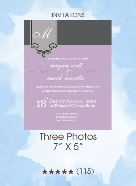 Invitations - Three Photos