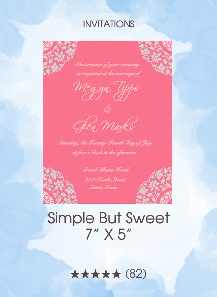 Invitations - Simple But Sweet