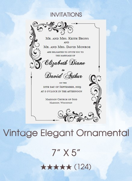 Vintage Elegant Ornamental Invitations