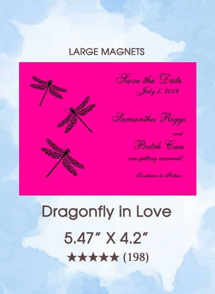 Dragonfly in Love Save the Date Magnets