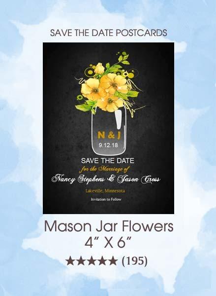 Save the Dates - Mason Jar Flowers