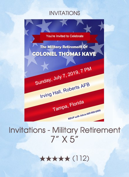 Invitations - Military Retirement