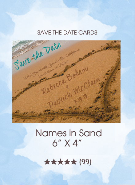 Save the Dates - Names in Sand