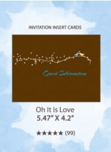 Oh It Is Love! - Insert Cards