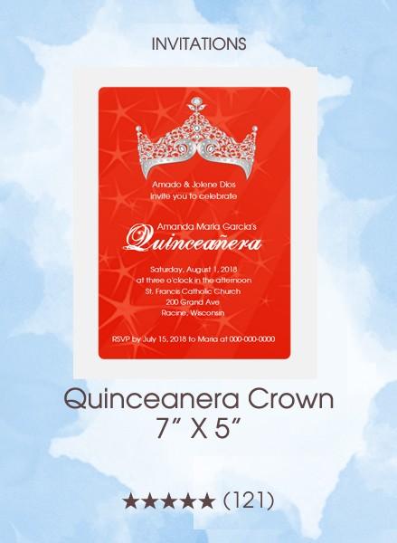 Invitations - Quinceanera Crown