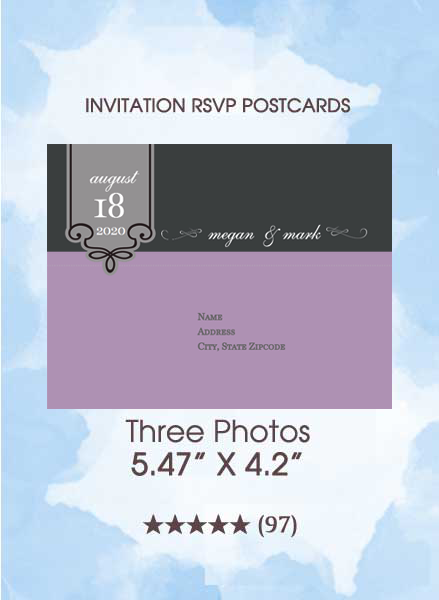 RSVP Postcards - Three Photos