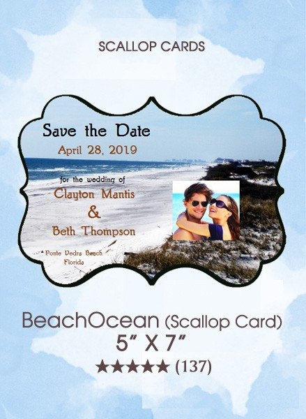 Save the Dates - BeachIsland (Scallop Card)