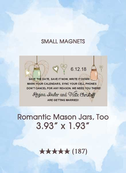 Save the Dates - Romantic Mason Jars, Too