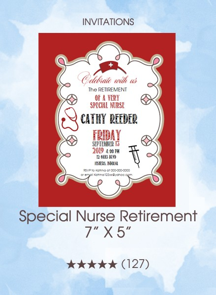 Invitations - Special Nurse Retirement