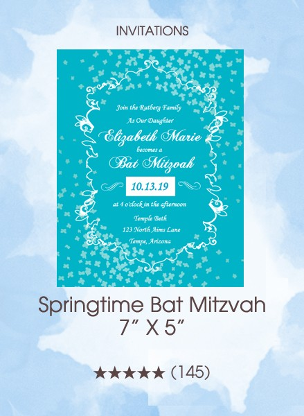 Invitations - Springtime Bat Mitzvah