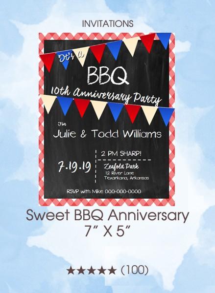 Invitations - Sweet BBQ Anniversary