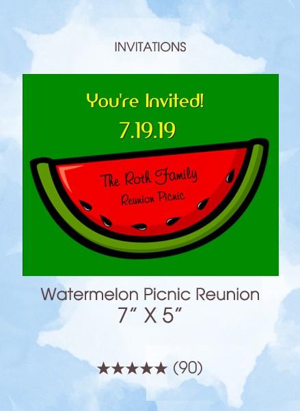 Invitations - Watermelon Picnic Reunion