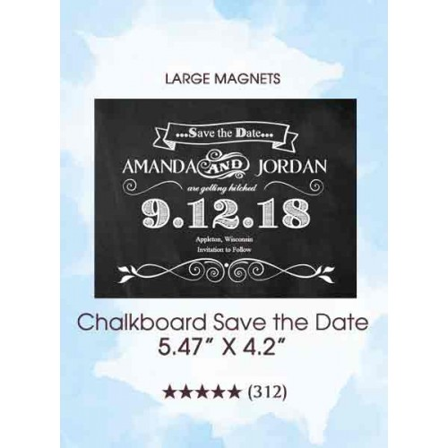 Chalkboard Save the Date Magnets