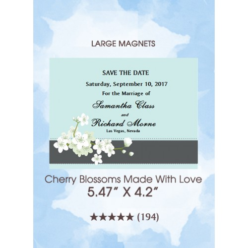 Cherry Blossoms Made With Love Save the Date Magnets