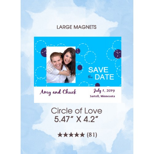 Circle of Love Save the Date Magnets