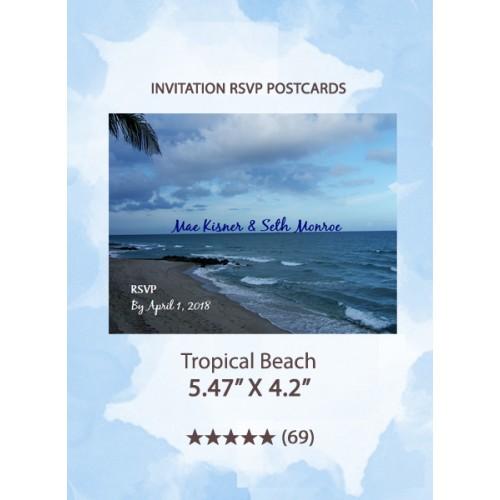 Tropical Beach - RSVP Postcards