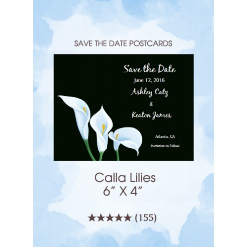 Calla Lilies Save the Date Postcards