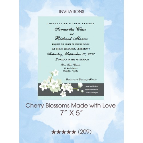 Invitations - Cherry Blossoms Made With Love