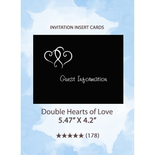 Double Hearts of Love - Insert Cards