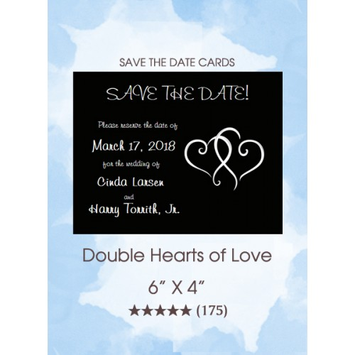Double Hearts of Love Save the Date Cards