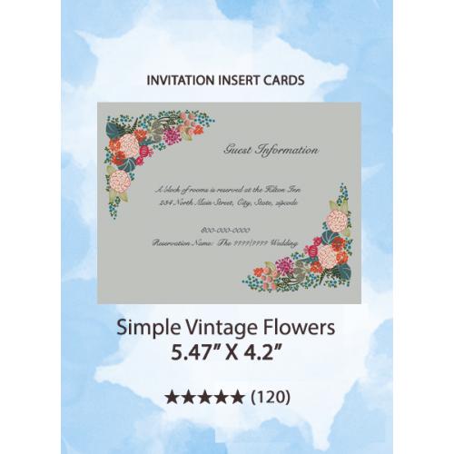 Simple Vintage Flowers - Insert Cards
