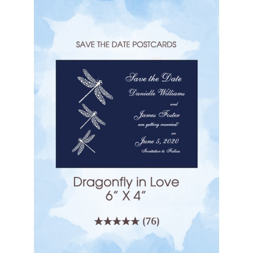 Dragonfly of Love Postcards