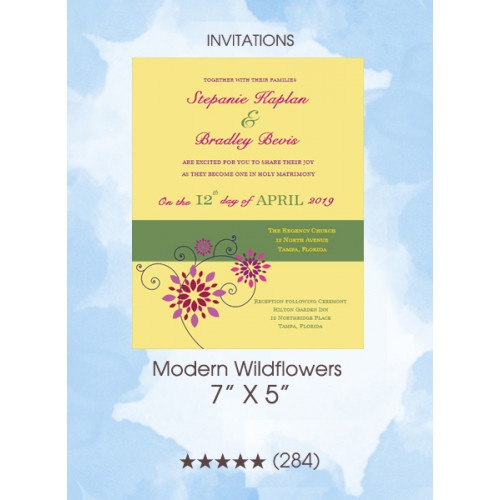 Invitations - Modern Wildflowers