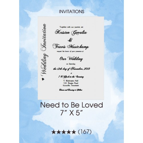 Invitations - Need To Be Loved