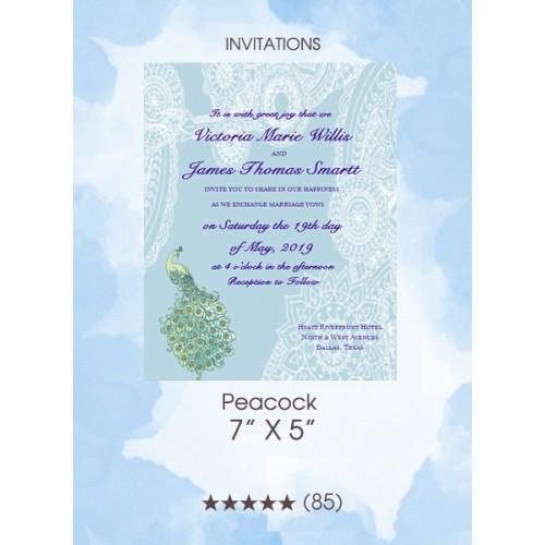 Invitations - Peacock