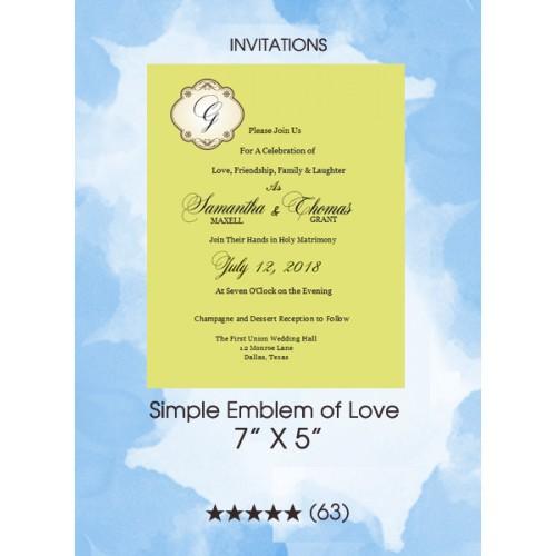 Invitations - Simple Emblem of Love